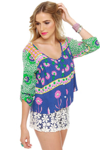Lucy Love Marlow Floral Print Top at Lulus.com!