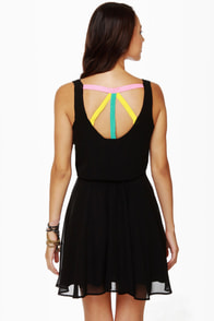 Lucy Love Monique Black Dress at Lulus.com!