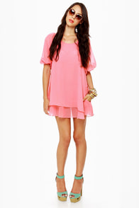 Lucy Love Gabriella Coral Pink Dress at Lulus.com!