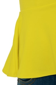 School Spirit Bright Yellow Top at Lulus.com!