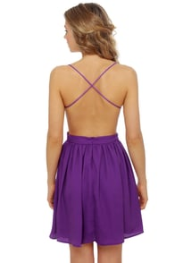 Evening News Backless Purple Dress at Lulus.com!