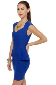 Figure It Out Royal Blue Dress at Lulus.com!