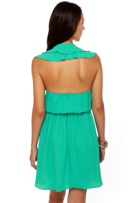 Ocean View Turquoise Halter Dress at Lulus.com!
