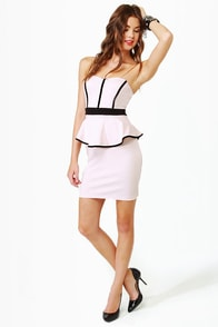 Sweet-ish Dish Strapless Light Pink Dress at Lulus.com!