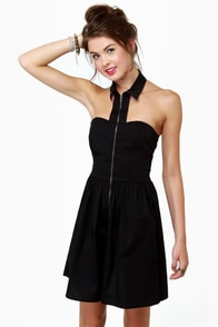 The Good Zip Lollipop Black Dress at Lulus.com!