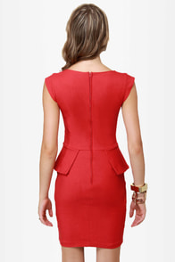 Chic to Chic Red Dress at Lulus.com!