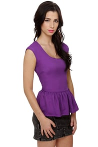 About a Twirl Purple Top at Lulus.com!
