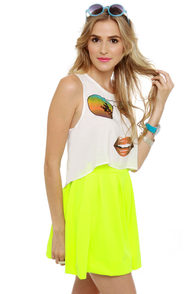 Face It Print Crop Top at Lulus.com!