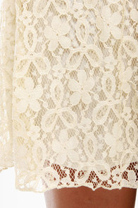 Pina Collar-da Cream Lace Dress at Lulus.com!