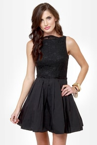 Party Etiquette Black Lace Dress