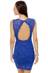 Cabaret Royal Blue Lace Dress at Lulus.com!