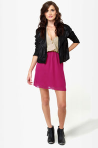 Back Beauty Taupe and Magenta Dress at Lulus.com!