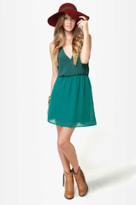 Back Beauty Teal Green Dress at Lulus.com!