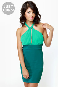 A-List Twist Teal Dress