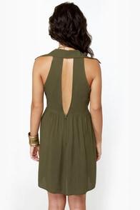Sherwood Forest Olive Green Dress