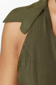 Sherwood Forest Olive Green Dress at Lulus.com!