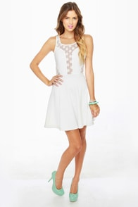 LULUS Exclusive Party Don't Stop Ivory Dress at Lulus.com!