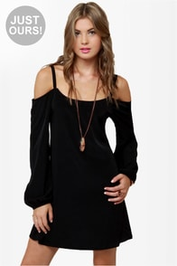 LULUS Exclusive Strapquest Black Dress at Lulus.com!
