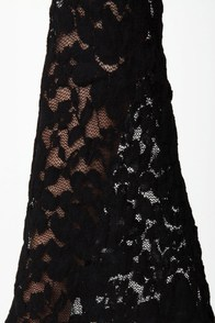 Ring My Bell Off-the-Shoulder Black Lace Dress at Lulus.com!