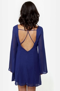 LULUS Exclusive Back in a Flash Blue Dress at Lulus.com!
