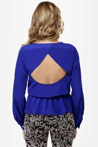 LULUS Exclusive Office Party Blue Top at Lulus.com!