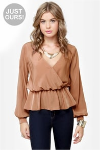 LULUS Exclusive Office Party Blush Top at Lulus.com!