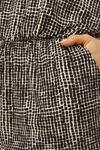 Square Enough White and Black Dress