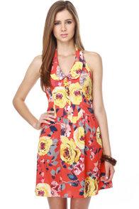 Bada Bloom Red Floral Dress