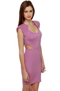 Commander Cutie Cutout Lavender Dress at Lulus.com!