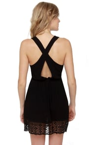 Morning Market Black Lace Dress at Lulus.com!