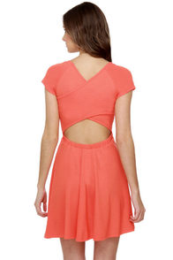 Wild and Free Bright Coral Dress
