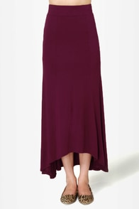 In the Near Flute-ure Burgundy Maxi Skirt at Lulus.com!