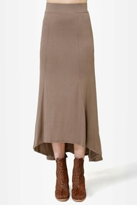 In the Near Flute-ure Light Brown Maxi Skirt at Lulus.com!