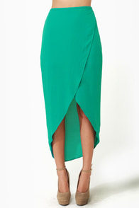 Tulip Season High-Low Teal Skirt at Lulus.com!