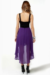 For Keeps Black and Purple Dress at Lulus.com!