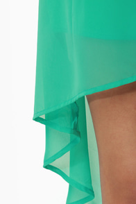 Notchy by Nature High-Low Mint and Sea Green Dress at Lulus.com!
