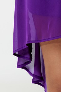 Notchy by Nature High-Low Purple Dress at Lulus.com!