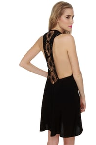 Under the Sun Black Lace Dress
