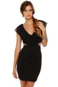 Side Effects Cutout Black Dress