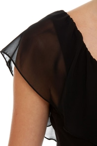 Side Effects Cutout Black Dress at Lulus.com!