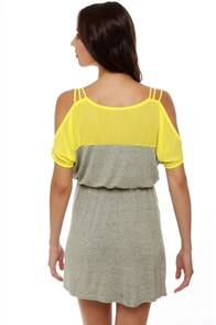 Good Grades Yellow and Grey Dress at Lulus.com!