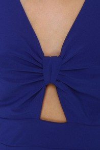 Little Peeps Cutout Blue Dress at Lulus.com!