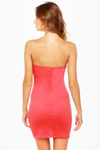 Sweet on Repeat Strapless Coral Dress at Lulus.com!