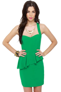 Act Two Kelly Green Dress at Lulus.com!