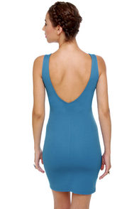On Your Mark Sleeveless Blue Dress at Lulus.com!