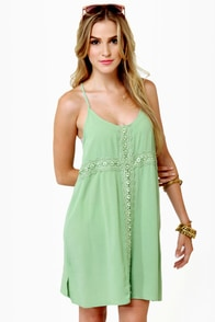 Fancy Free Light Green Dress at Lulus.com!