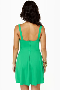 Flare de Lis Sea Green Dress at Lulus.com!