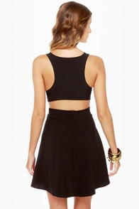Stuck on You Cutout Black Dress at Lulus.com!