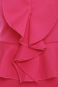 Savoy Ruffle Fuchsia Pink Dress at Lulus.com!