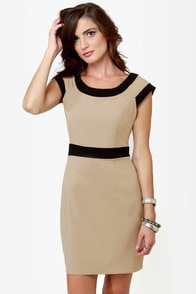 Double Exposure Taupe Dress at Lulus.com!